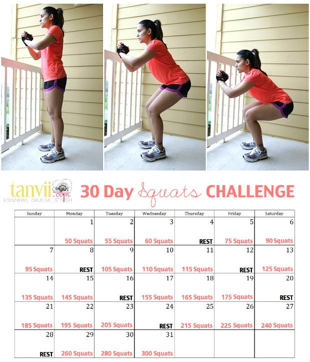 30 Day Squats Challenge | Tanvii – Indian Fashion Intended For Beginner 30 Day Squat Challenge