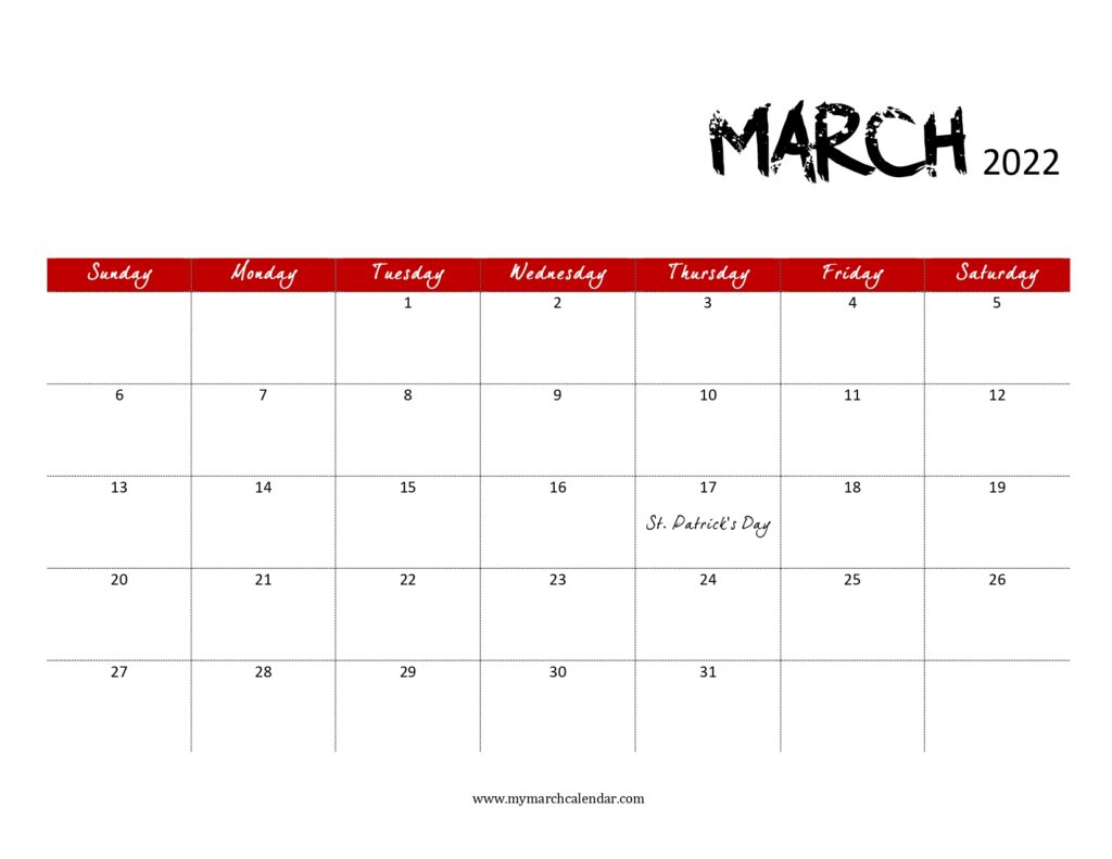 30+ March 2022 Calendar, March 2022 Blank Calendar For Calendar For March 2022