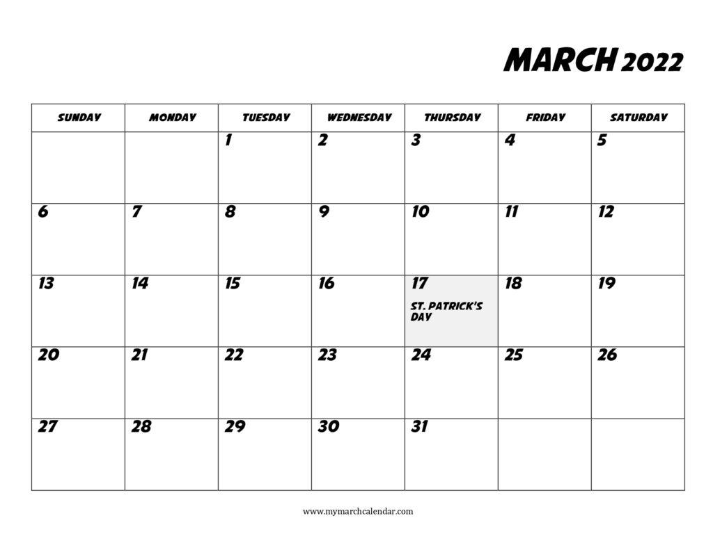 30+ March 2022 Calendar, March 2022 Blank Calendar with regard to March 2022 Calendar To Print