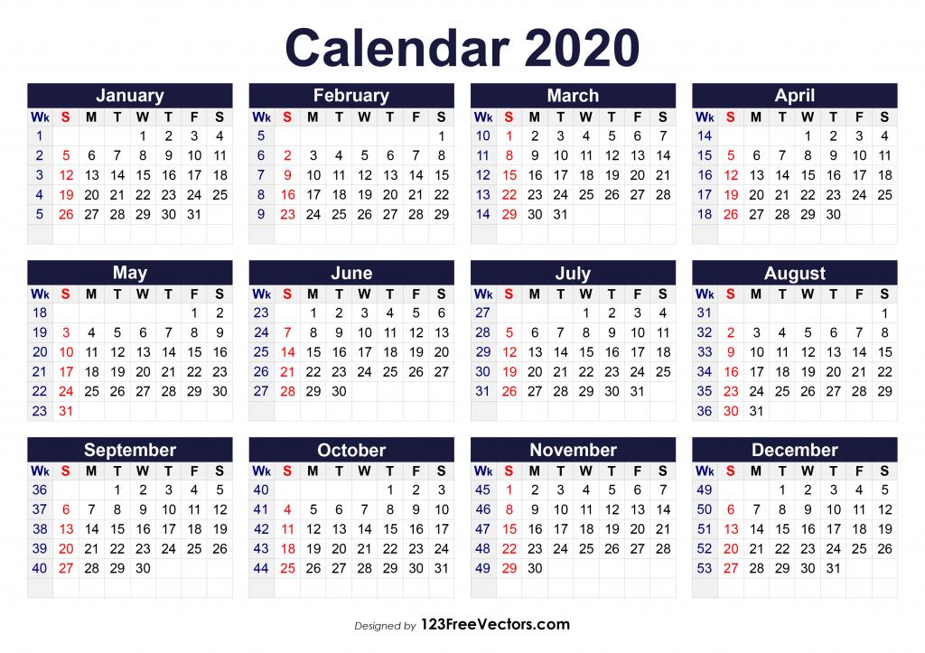 6 Week Blank Calendar 2020 – Calendar Template 2021 Regarding Nc Court Calendar Query