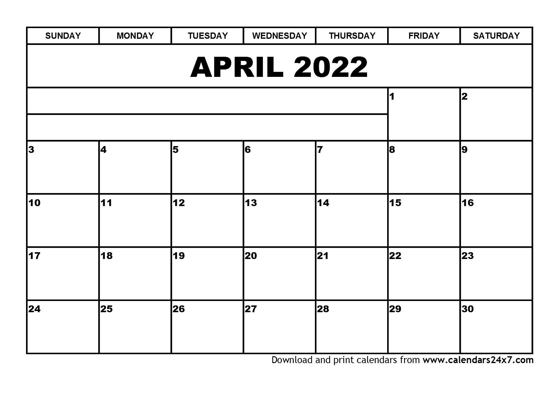 April 2022 Calendar & May 2022 Calendar Within March And April 2022 Calendar Free Printable
