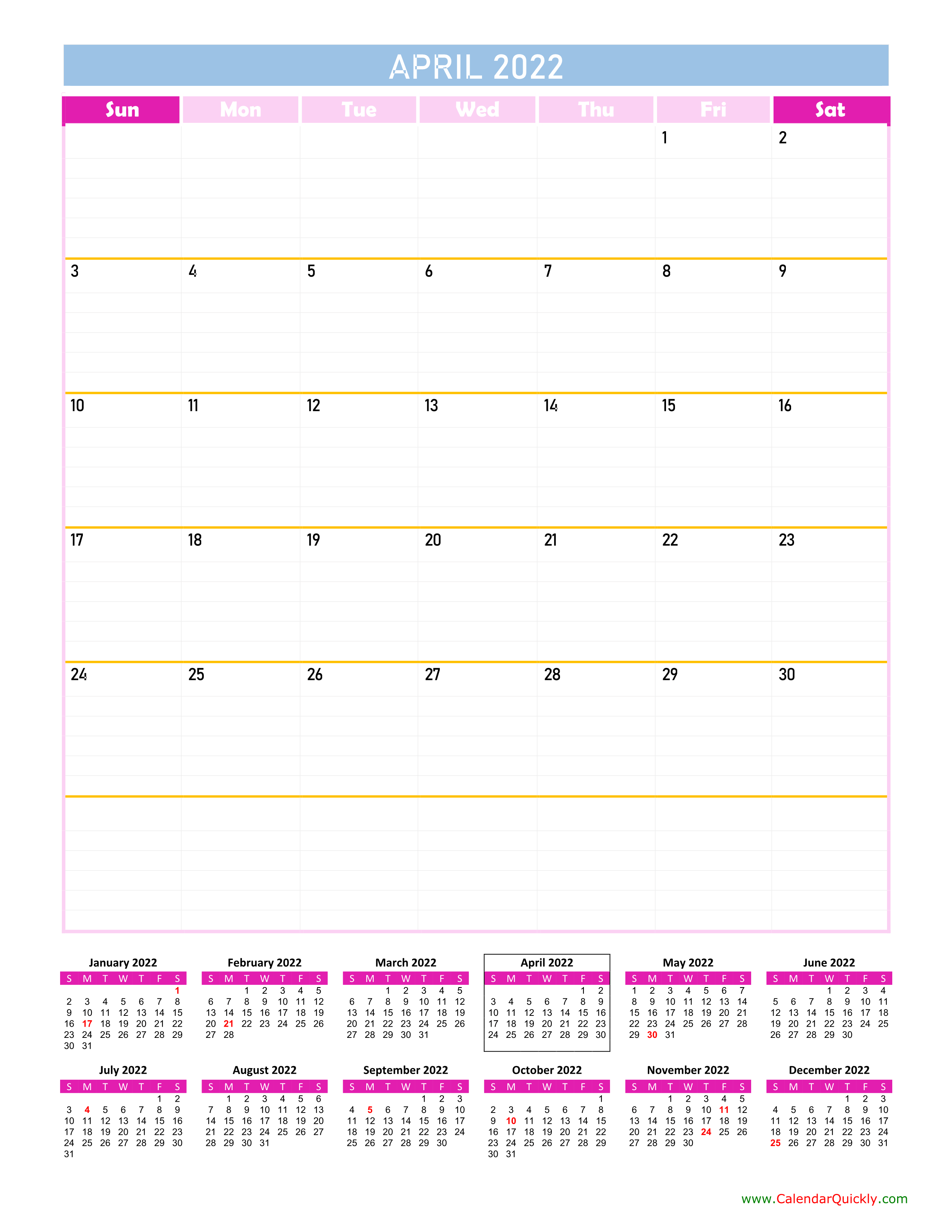April Calendar 2022 Vertical | Calendar Quickly Regarding Calendars March April And May 2022 Calendar