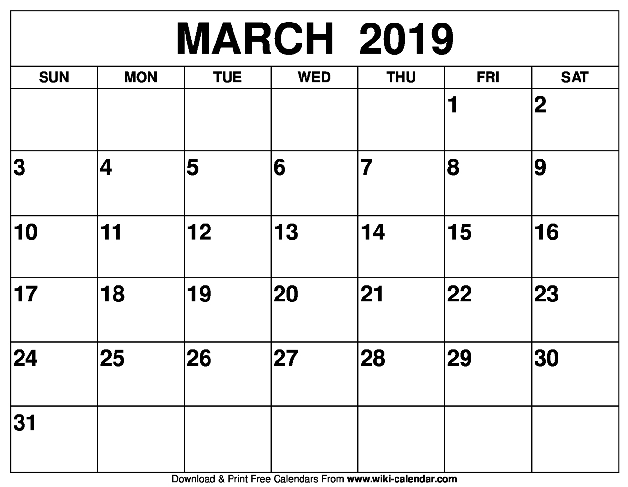 Blank March 2019 Calendar Printable Pertaining To March April Calendar Printable