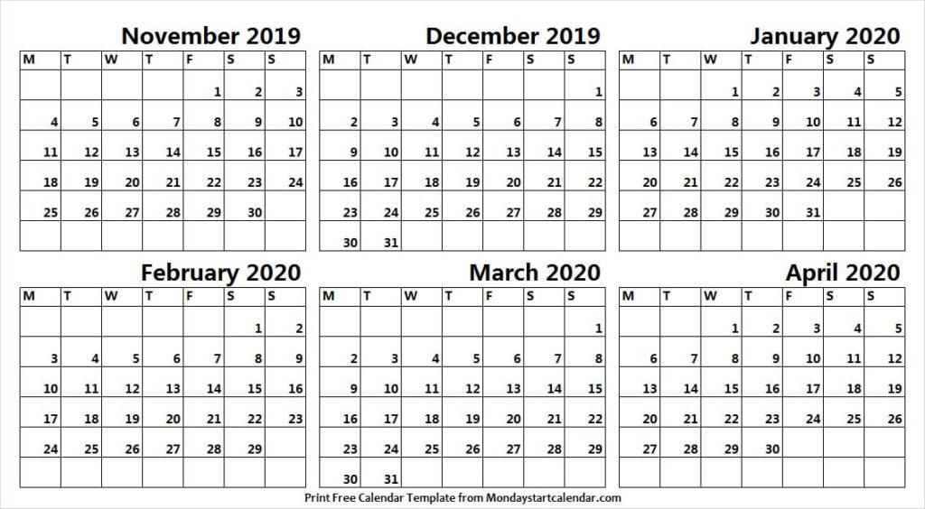 Calendar 2019 November December 2020 January February Within November December January February March Calendars