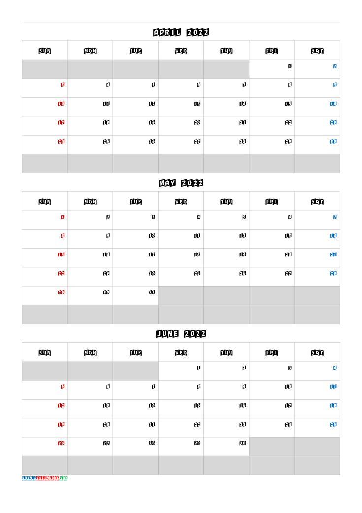 Calendar April May June 2022 [Q1 Q2 Q3 Q4] | Calendar Pertaining To 2022 Calendar March And April