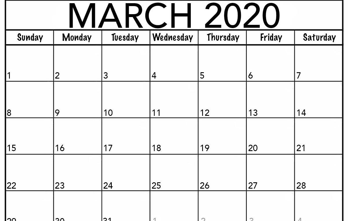 Calendar Of 2020 March   Calendar Printables Free Templates Pertaining To March April Calendar Printable