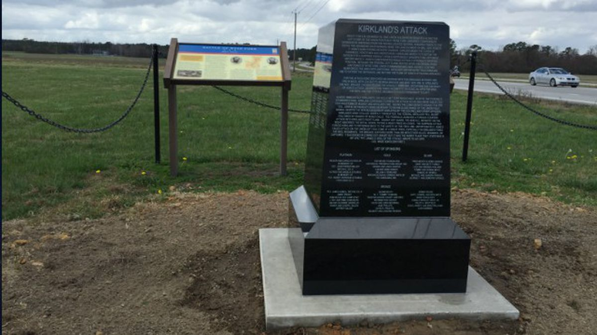Civil War Marker Installed At Lenoir County Battleground Site For Lenoir County School Calendar