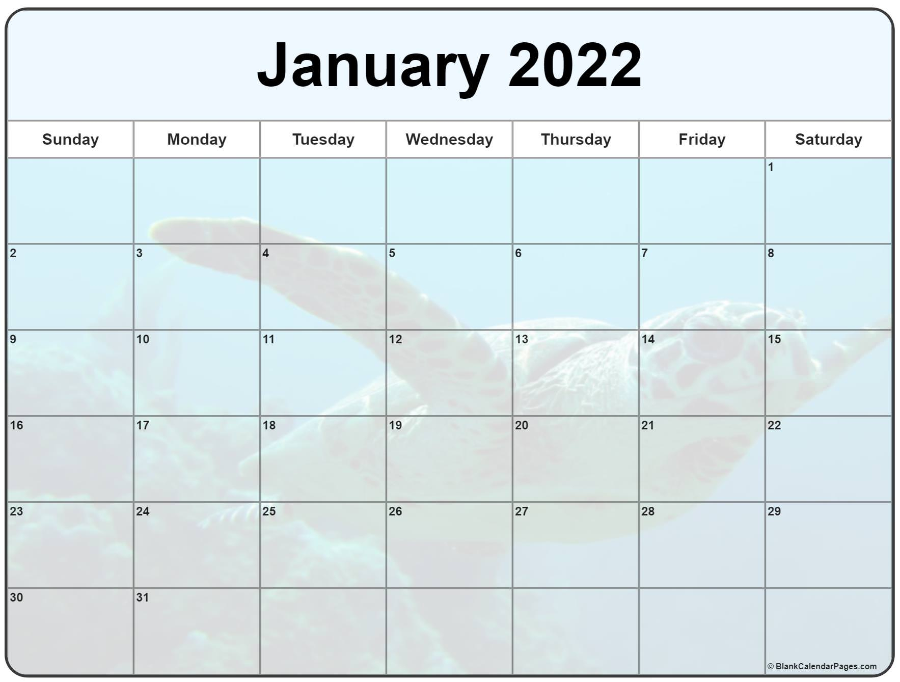 Collection Of January 2022 Photo Calendars With Image Filters. In January 2022 Free Printable Calendar