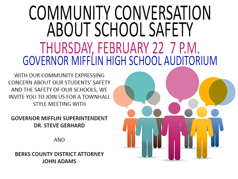 Community Conversation On School Safety - Governor Mifflin School District Pertaining To Mifflin County School District Calendar 2022