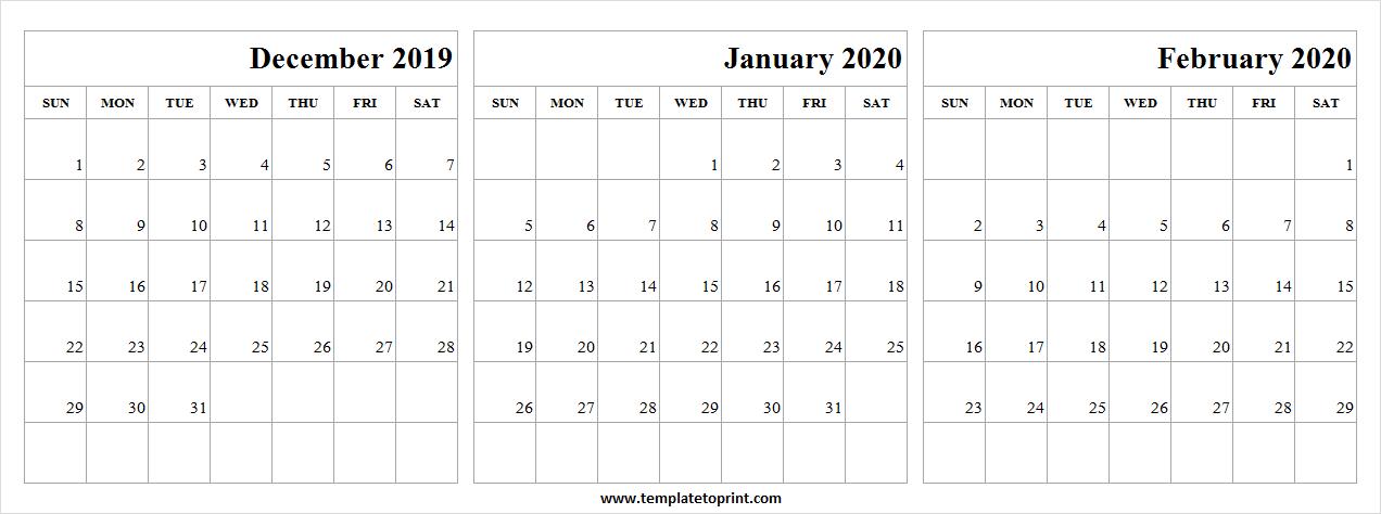 December 2019 January February 2020 Calendar | Cute Calendar Pertaining To December January February Calendar