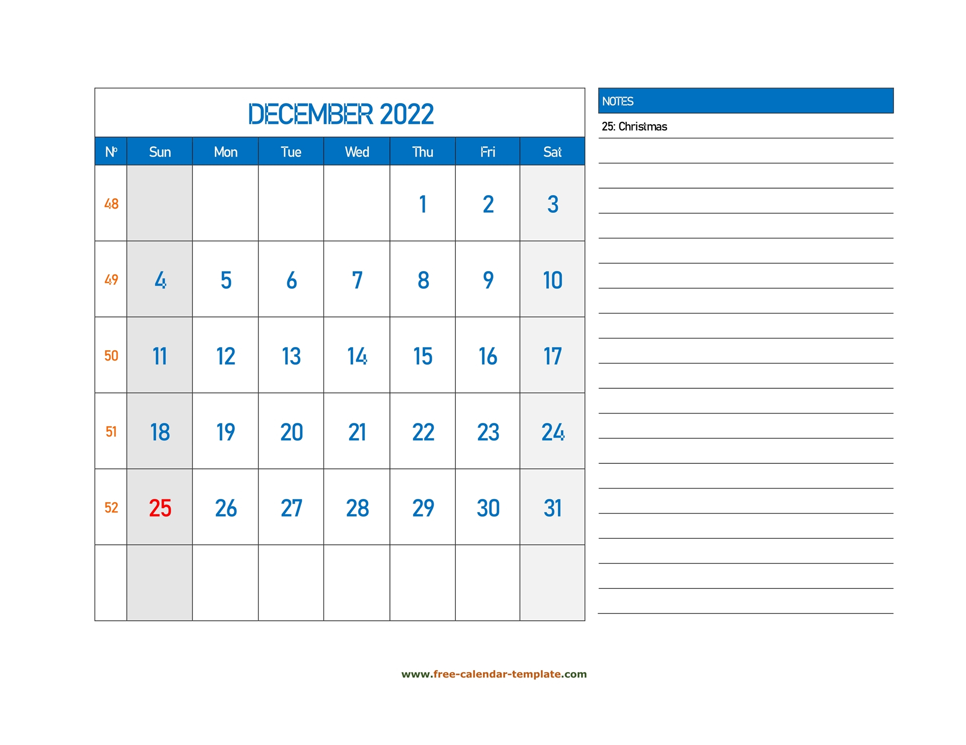 December Calendar 2022 Grid Lines For Holidays And Notes With Regard To Print Calendar January 2022 Fillable Lines