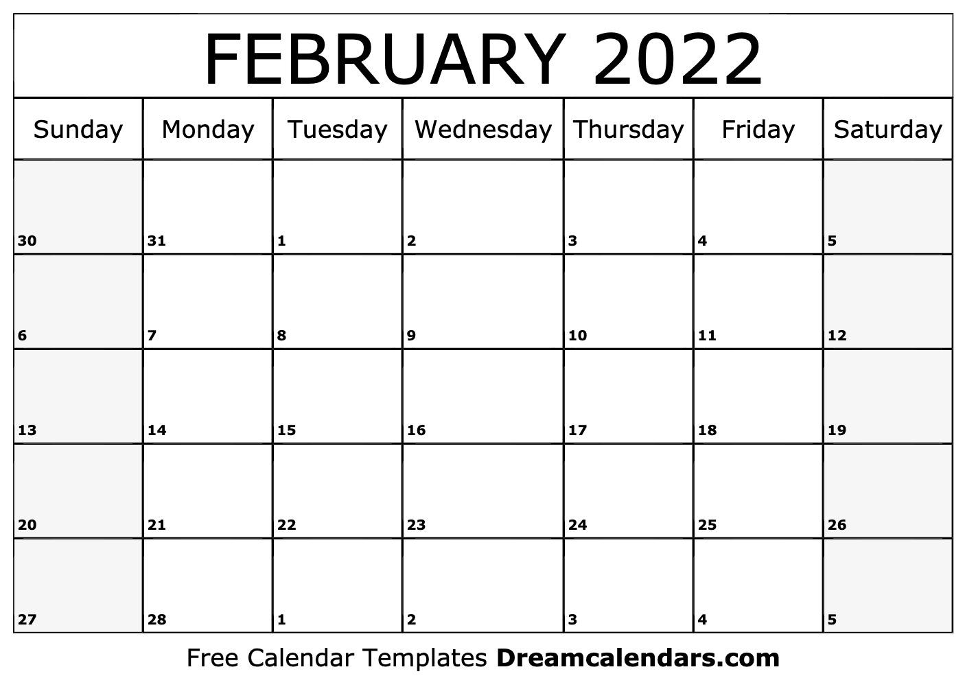 February 2022 Calendar | Free Blank Printable Templates With Calendar 2022 February Floral