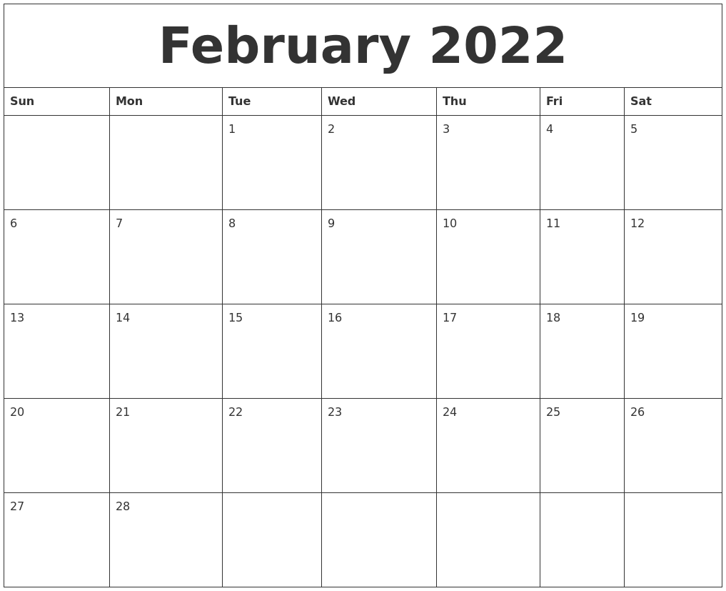 February 2022 Free Calendar Download Intended For February March April May 2022 Calendar