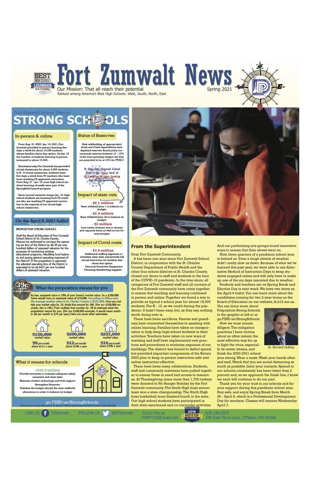 Fort Zumwalt News – Strong Schools – Community News With Fort Zumwalt Spring Break 2021