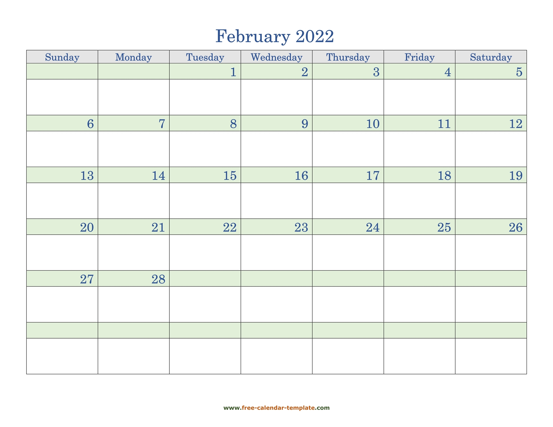 Free February 2022 Calendar, Coloring On Each Day Pertaining To 2022 Free Big Primt For Feb 2022