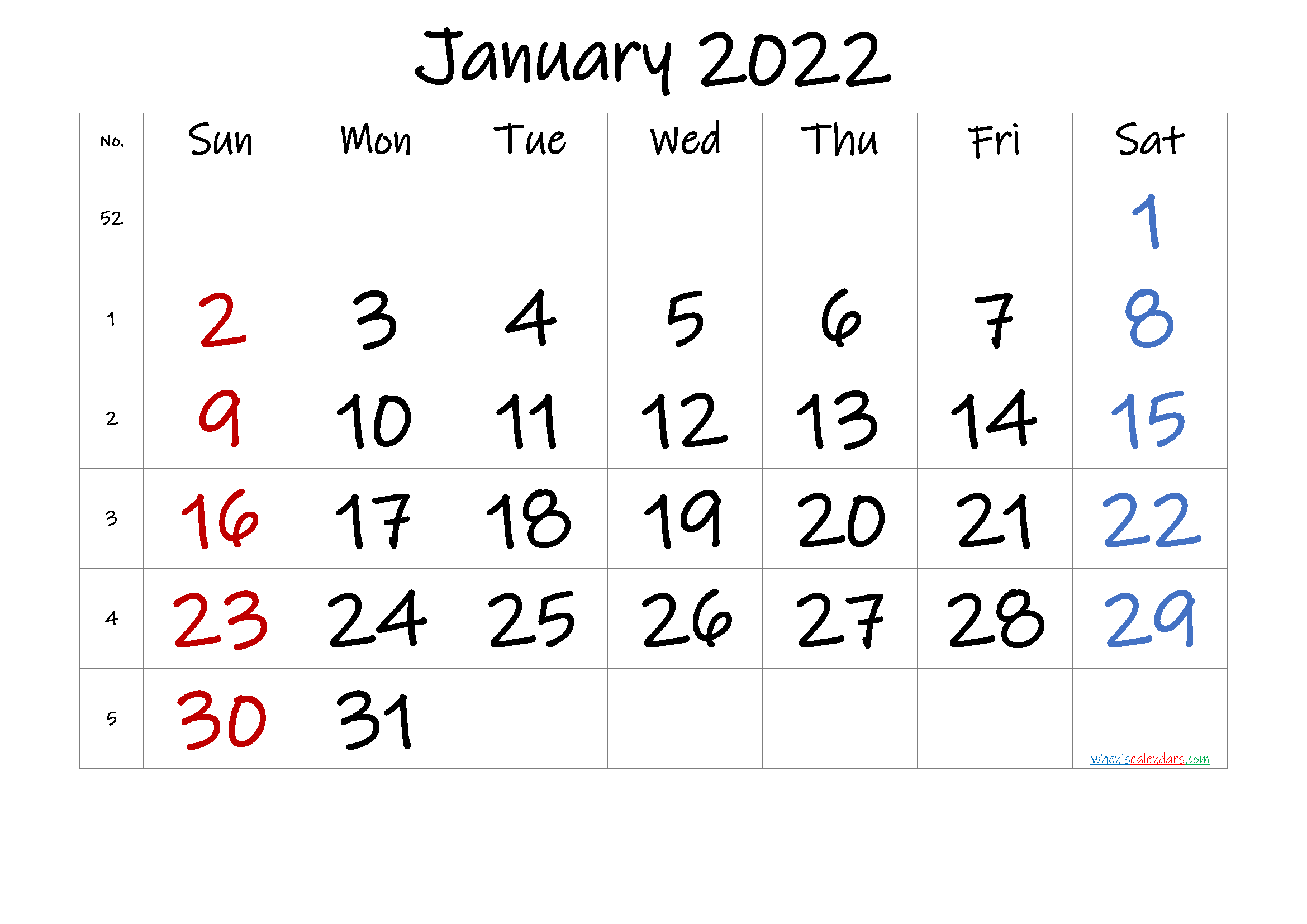 Free January 2022 Calendar [Free Premium] Throughout Images Of January 2022 Calendar