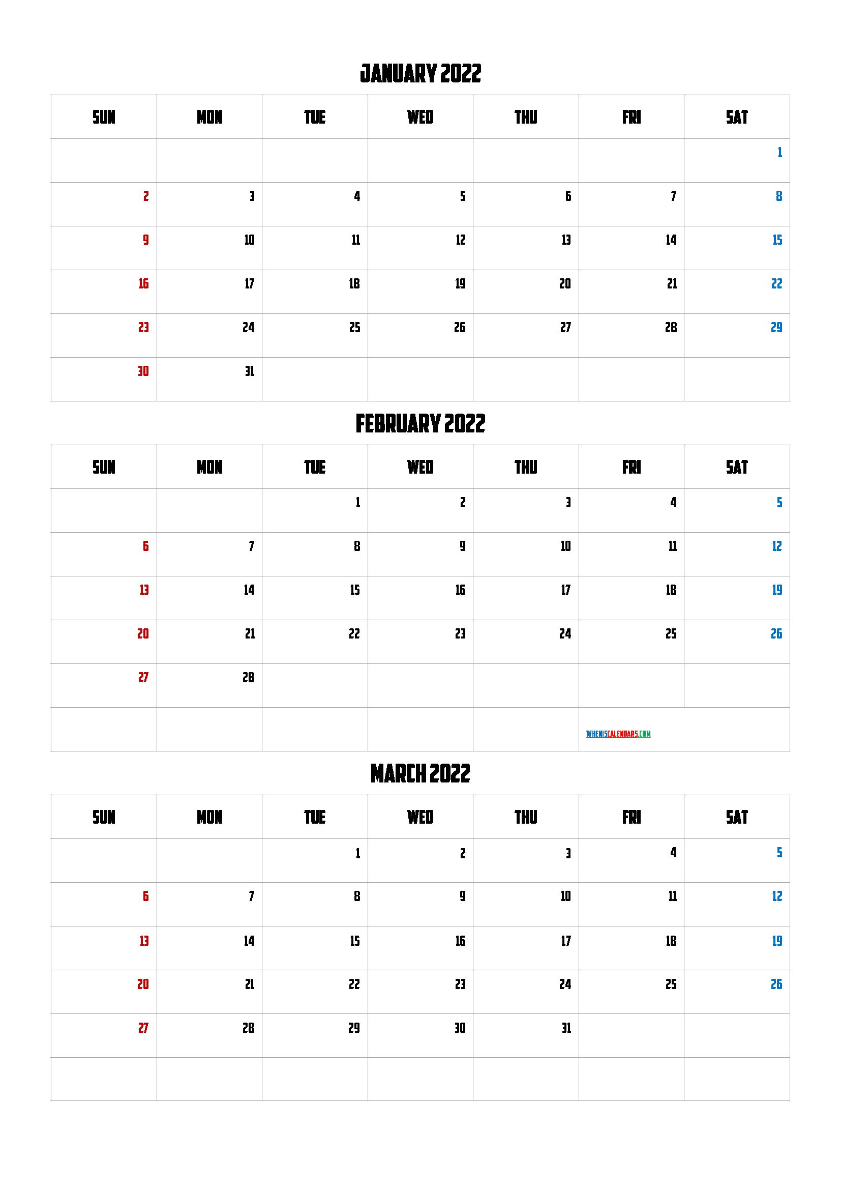 Free January February March 2022 Calendar - Calendraex In March April May June Calendar 2022