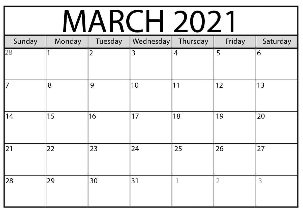 Free Printable 2021 January February March Calendar Template Inside January February March 2021 Calendar