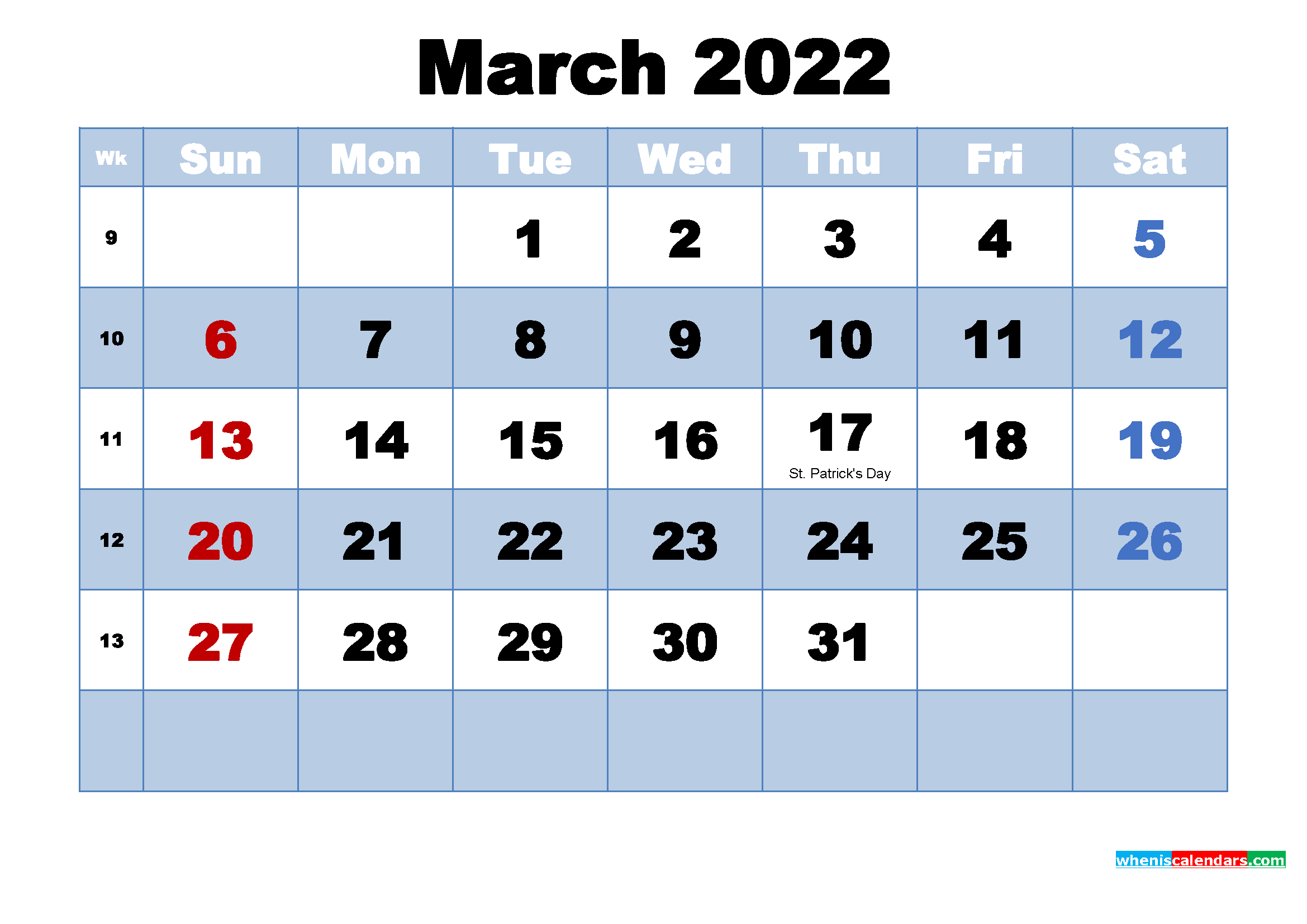Free Printable 2022 Calendar March As Word, Pdf Pertaining To Calendar For March 2022