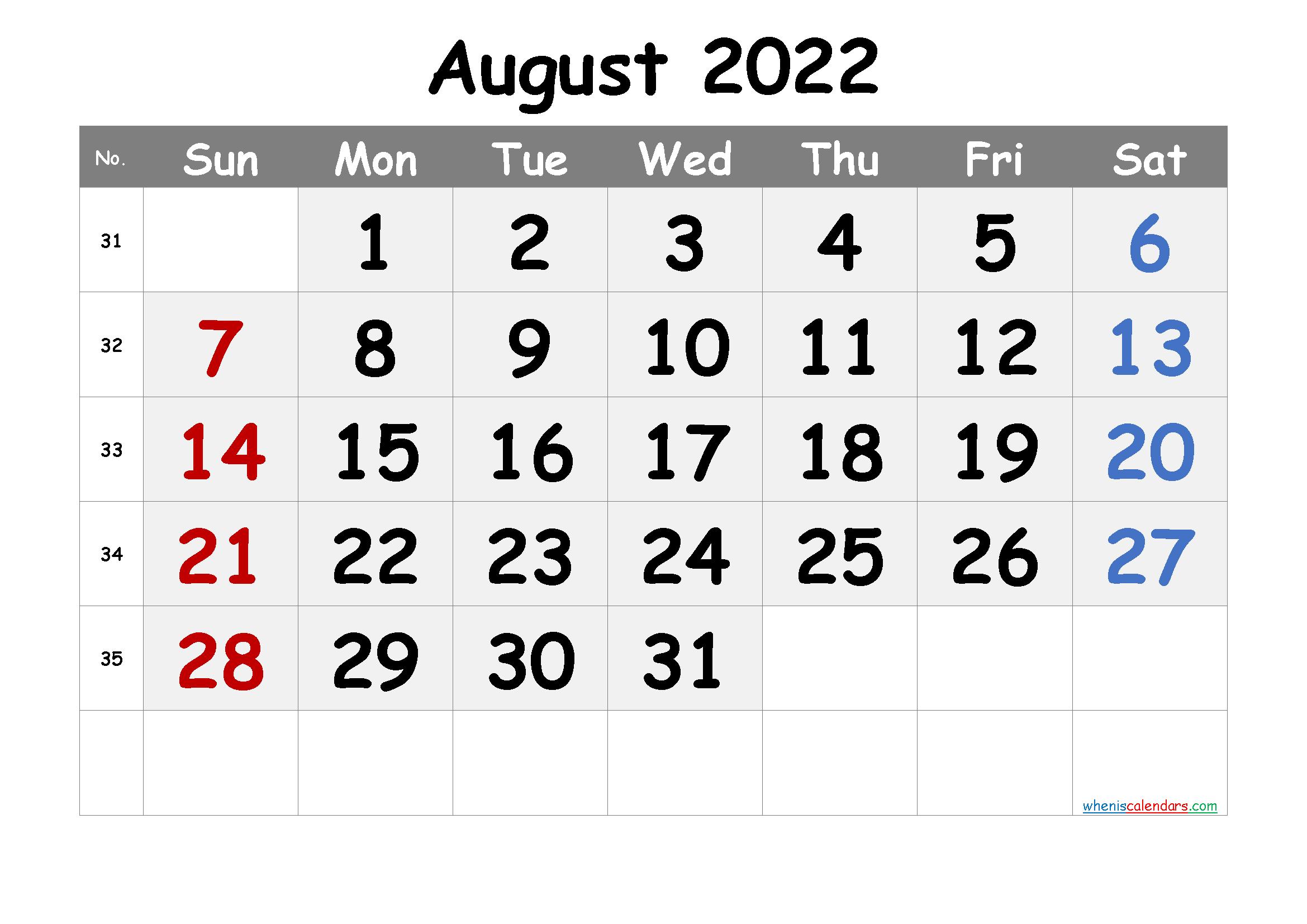 Free Printable Calendar August 2021 2022 And 2023 Regarding January 2022 Printable Calendar Cute