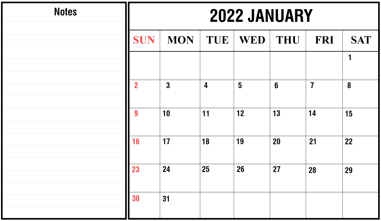Free Printable Calendar January 2022 Pdf | Printable Calendar regarding Images Of January 2022 Calendar