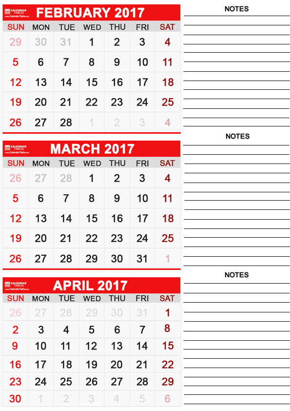 Free Printable March 2017 Calendar – Calendartable Within January February March April May Calendar
