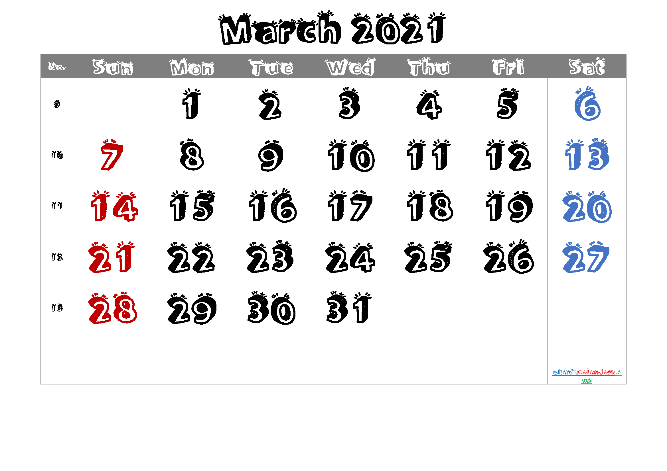 Free Printable March 2021 Calendar (Premium) pertaining to March 2021 Calendar Images