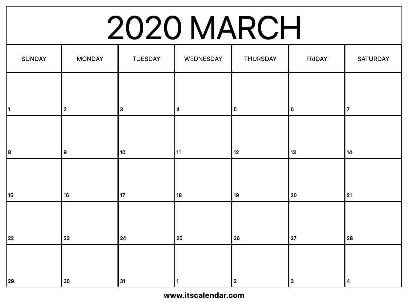 J Salmon 2020 Calendar | Calendar Printables Free Templates with regard to Calendar With March Filled In
