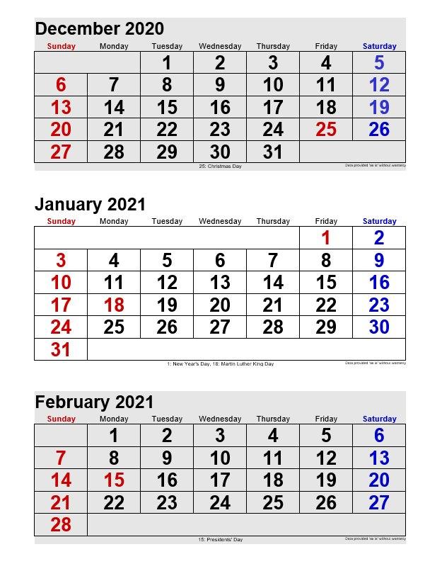 January 2021 Printable Calendars Portrait Format Regarding View January 2021 Calendar