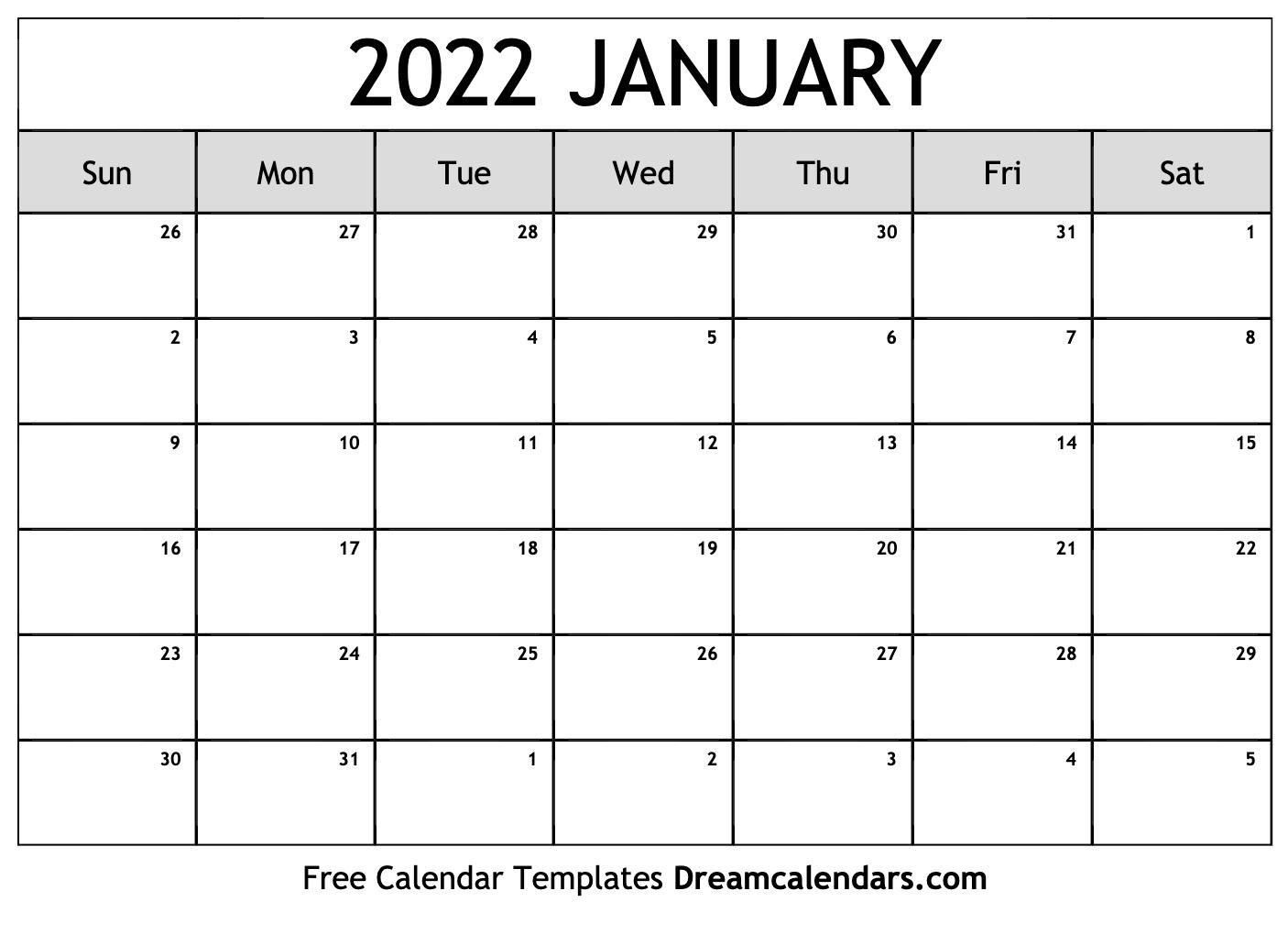 January 2022 Calendar   Free Blank Printable Templates Regarding 2022 January Calendar With Holidays