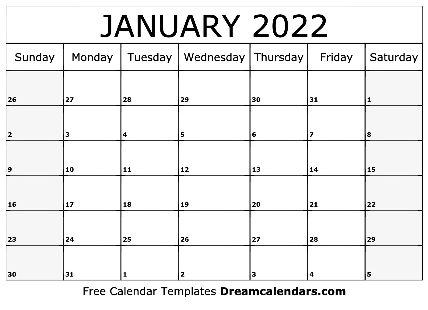 January 2022 Calendar | Free Blank Printable Templates Throughout Januarycalendar 2022 With Holidays