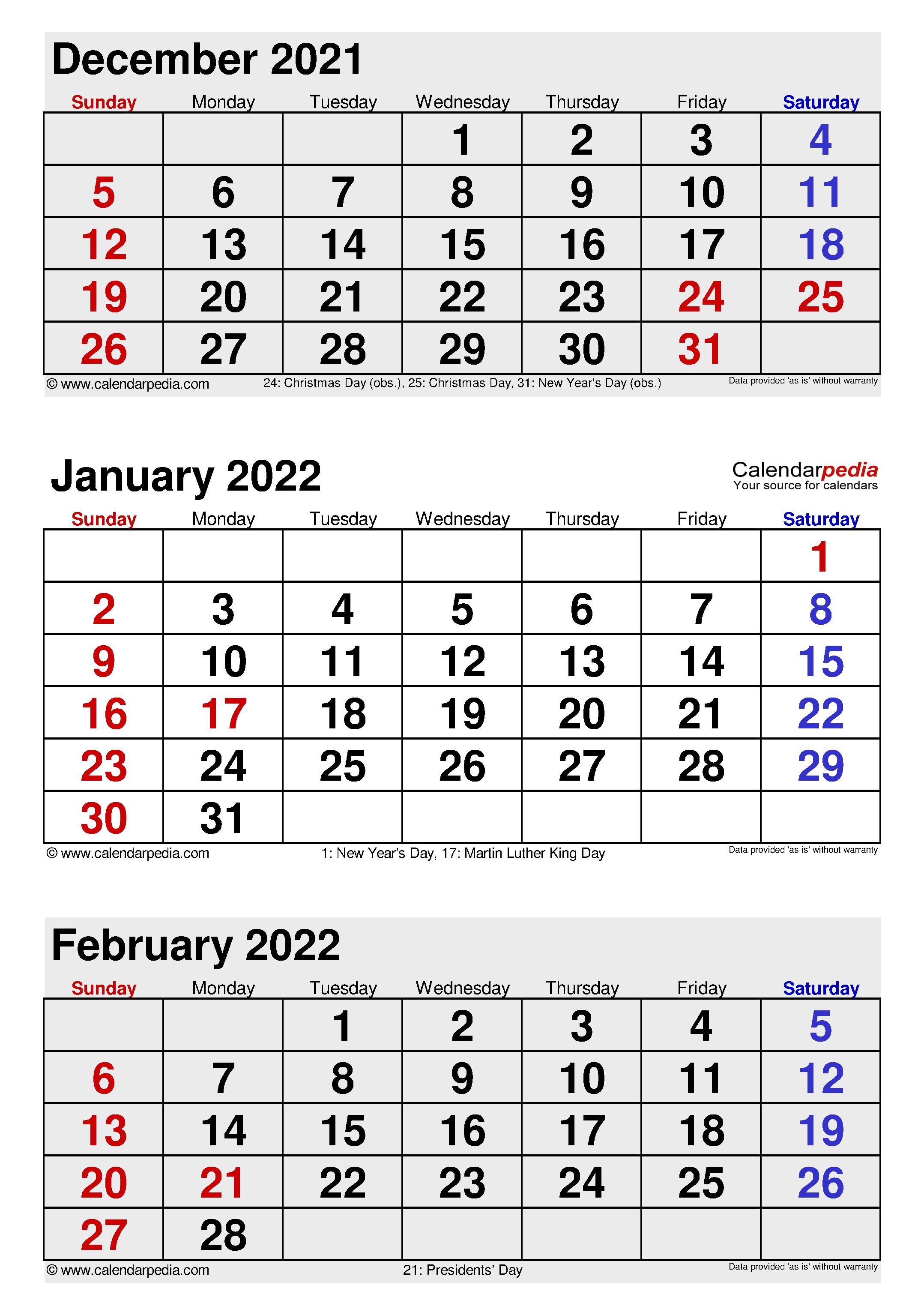 January 2022 Calendar | Templates For Word, Excel And Pdf Inside January Printable Calendar 2022