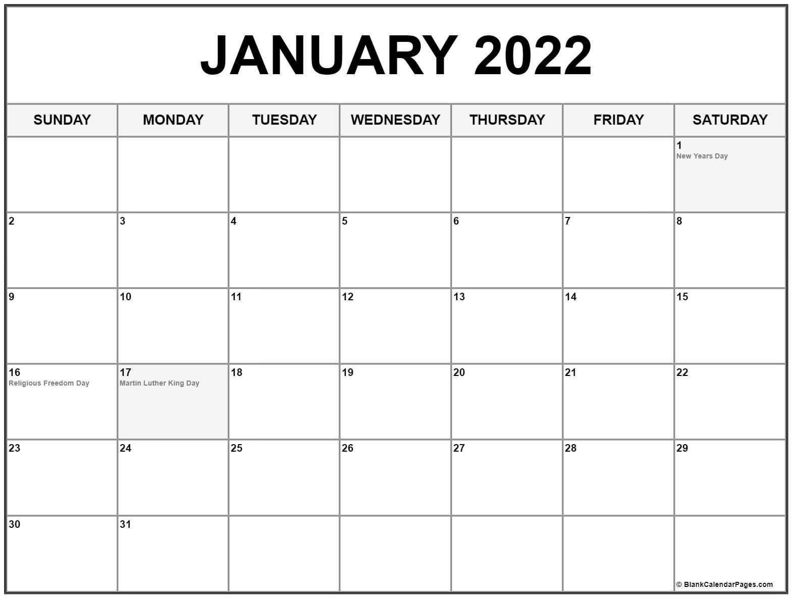 January 2022 With Holidays Calendar Regarding December January Calendars 2022 2022
