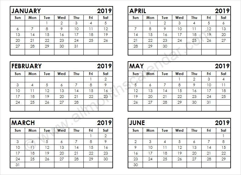 January February March April May June 2019 Calendar In January February March April May Calendar