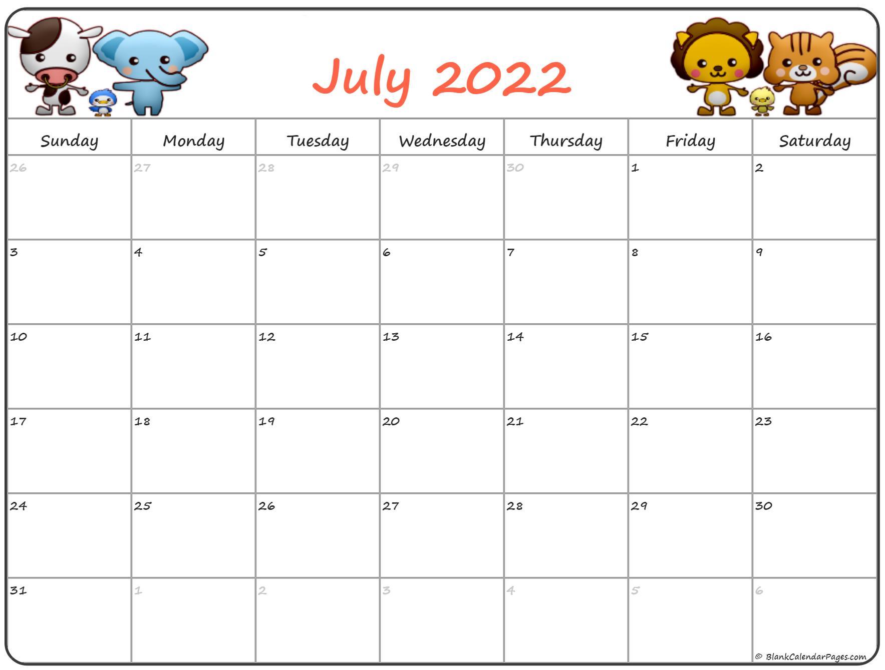 July 2022 Pregnancy Calendar | Fertility Calendar With Regard To January 2022 Printable Calendar Cute
