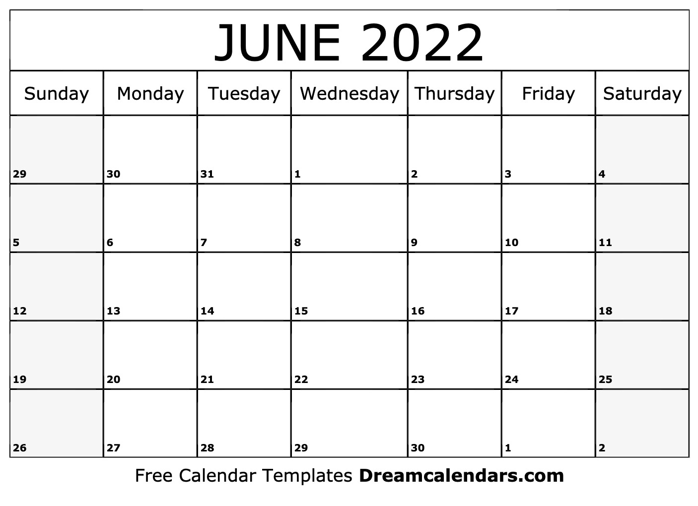 June 2022 Calendar | Free Blank Printable Templates with March April May June Calendar 2022