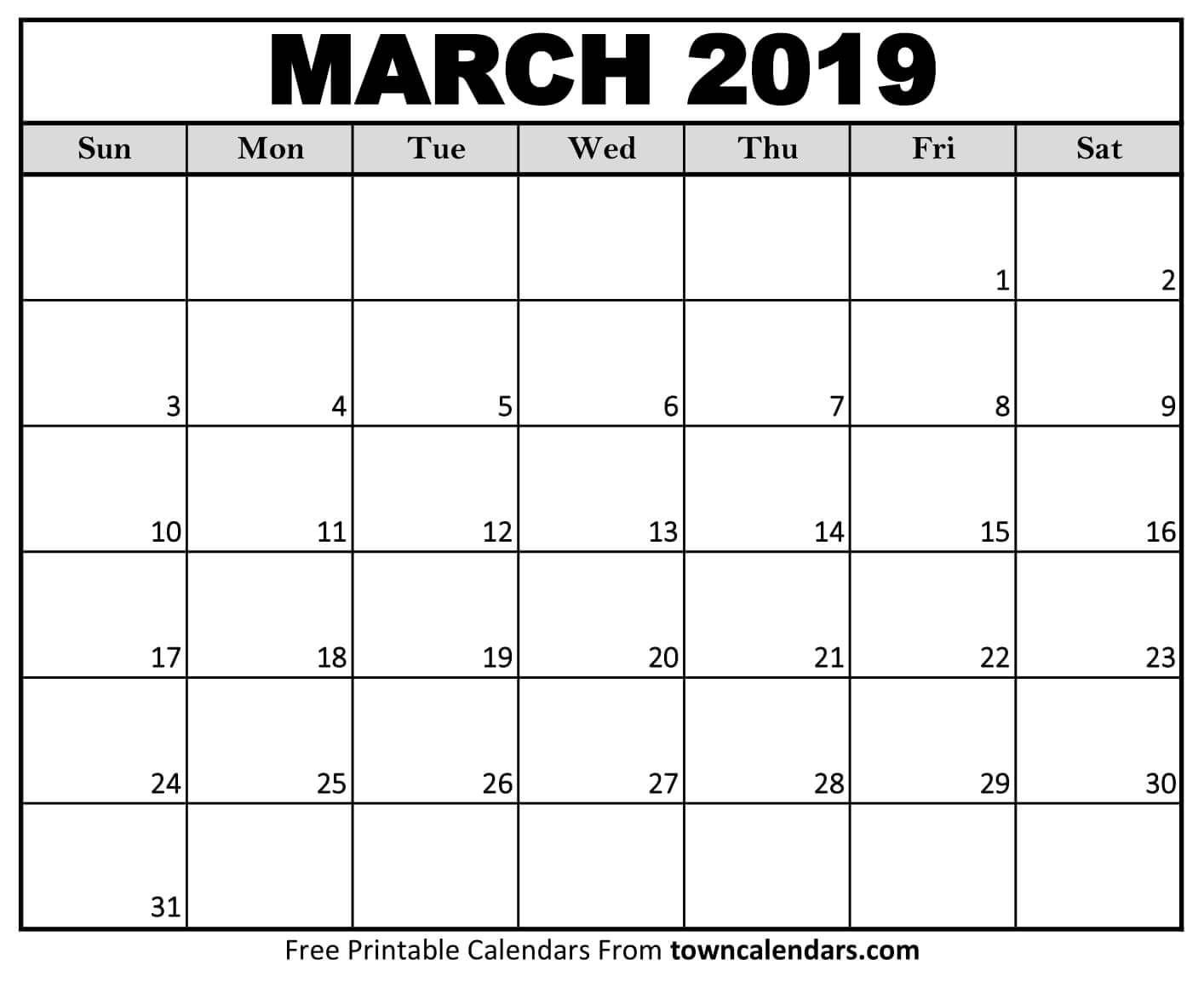 March 2019 Calendar Excel Templates   Monthly Calendar With Regard To March April Calendar Printable