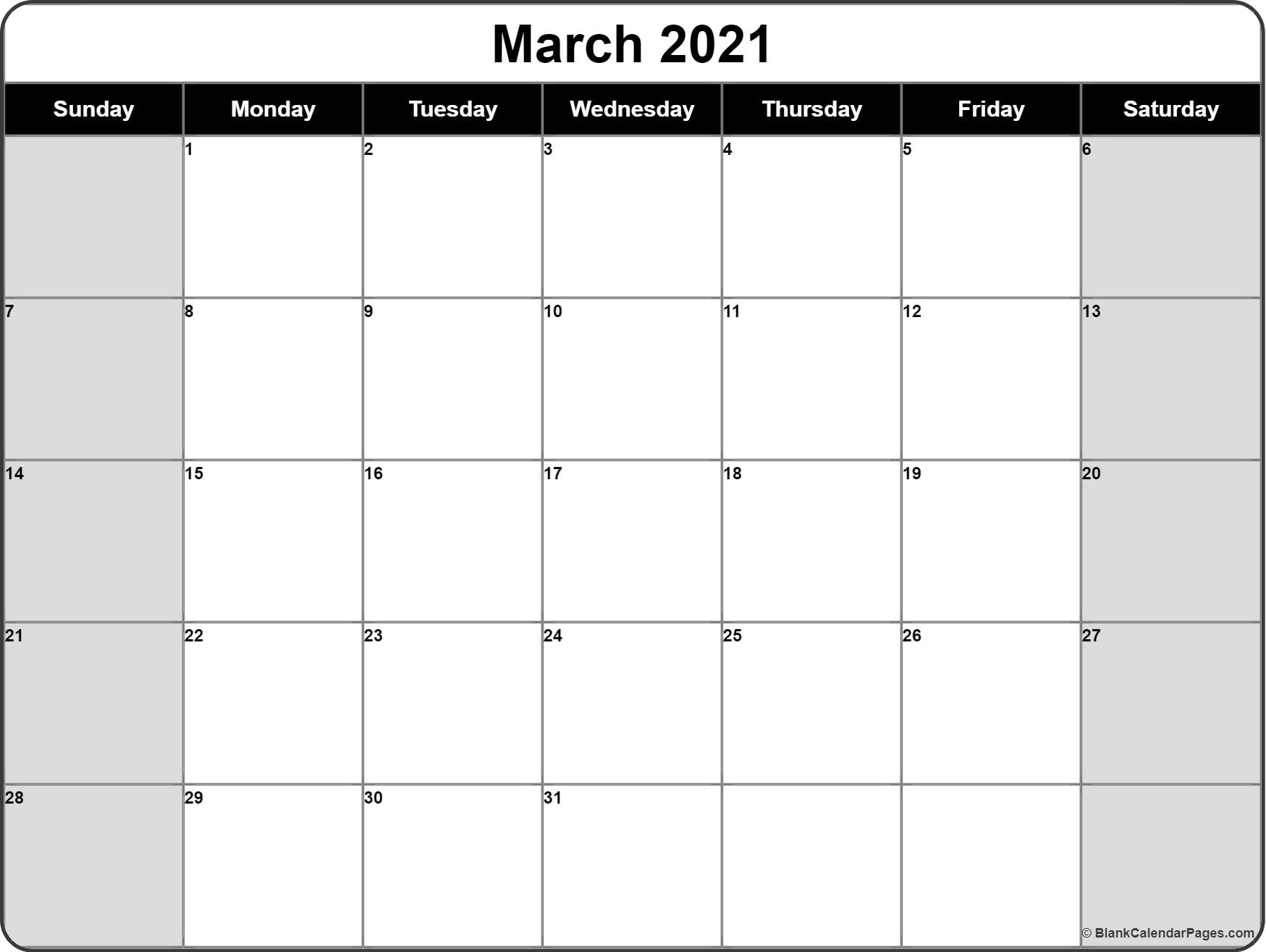 March 2021 Calendar   Free Printable Calendar Templates Regarding March Holidays 2021 Calendars