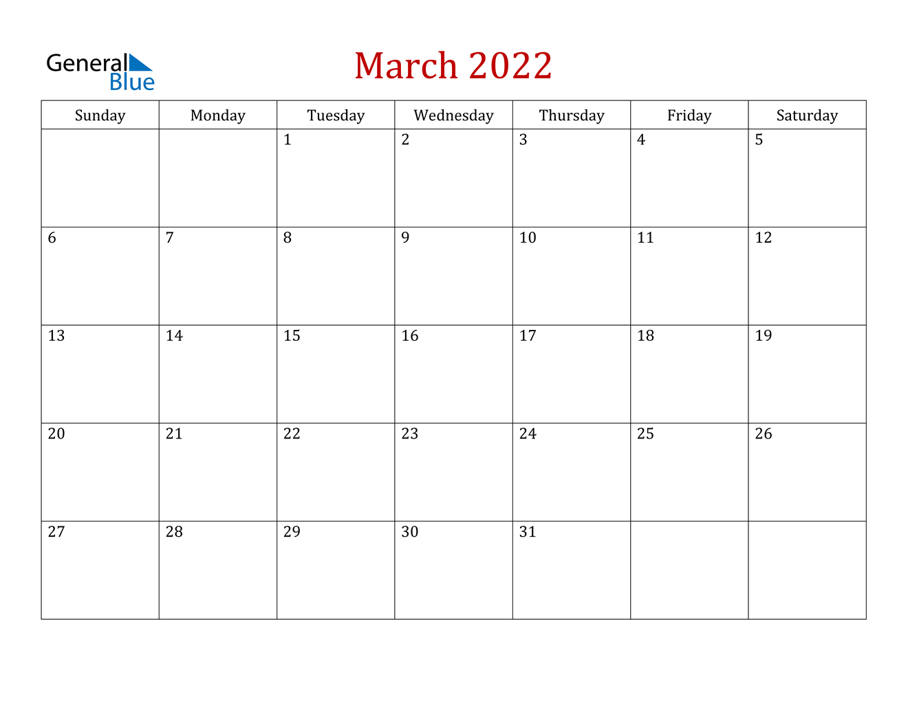 March 2022 Calendar (Pdf Word Excel) intended for Calendar For March 2022