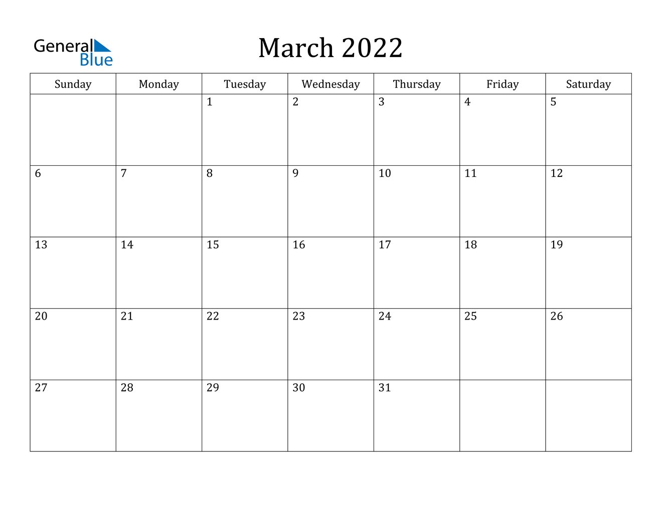 March 2022 Calendar (Pdf Word Excel) Within March April 2022 Calendar Print