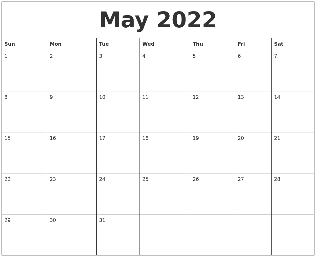 March 2022 Free Calendar Download Within January February March April May Calendar 2022