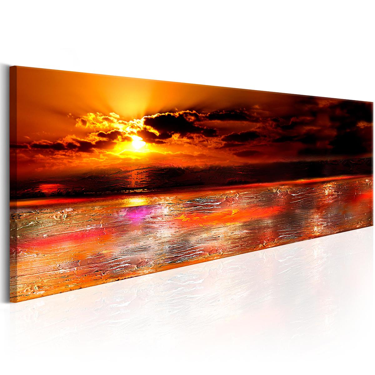 Modern Sunset Sunrise Nature Ocean Print Pictures Canvas in Sunset Sunrise Printable