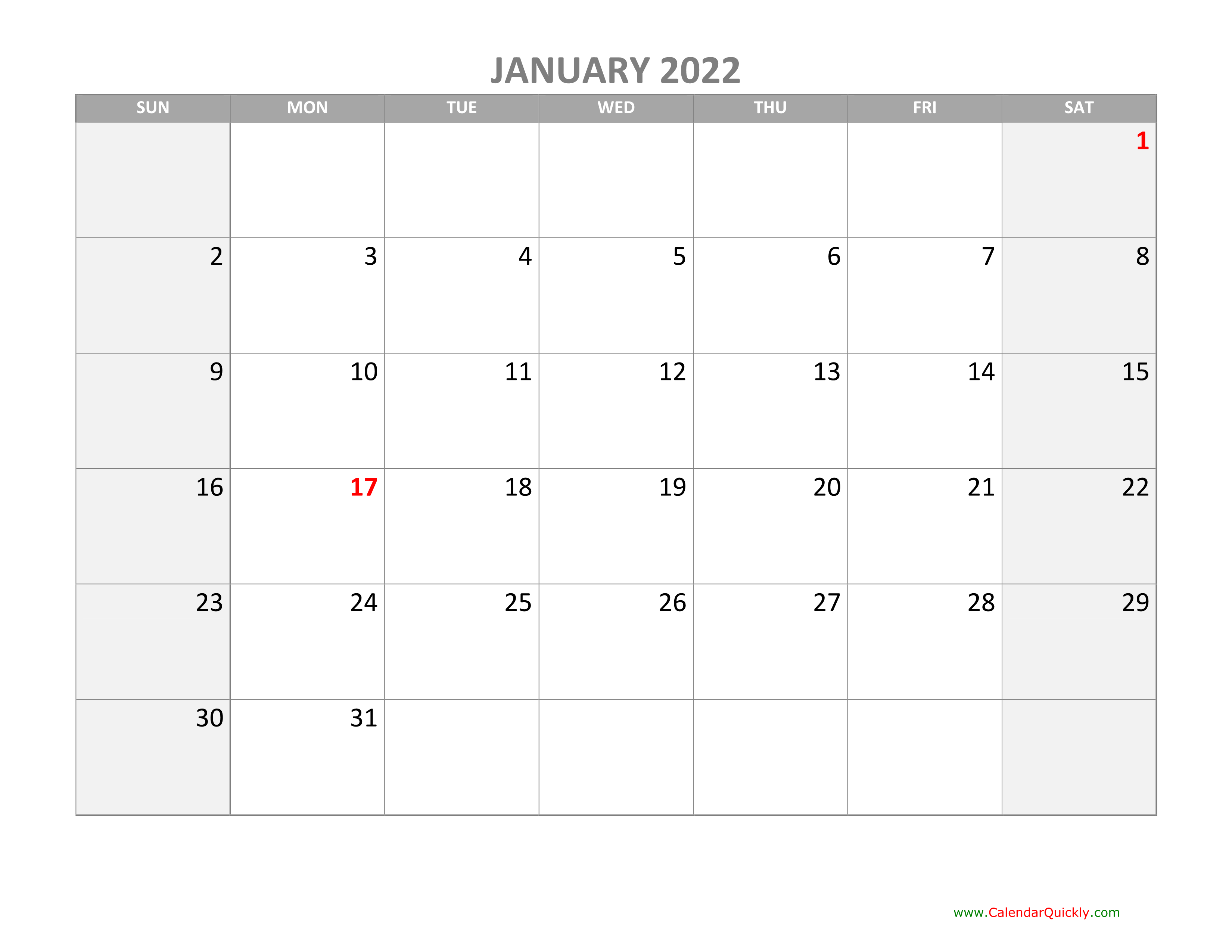 Monthly Calendar 2022 With Holidays   Calendar Quickly With Regard To 2022 January Calendar With Holidays