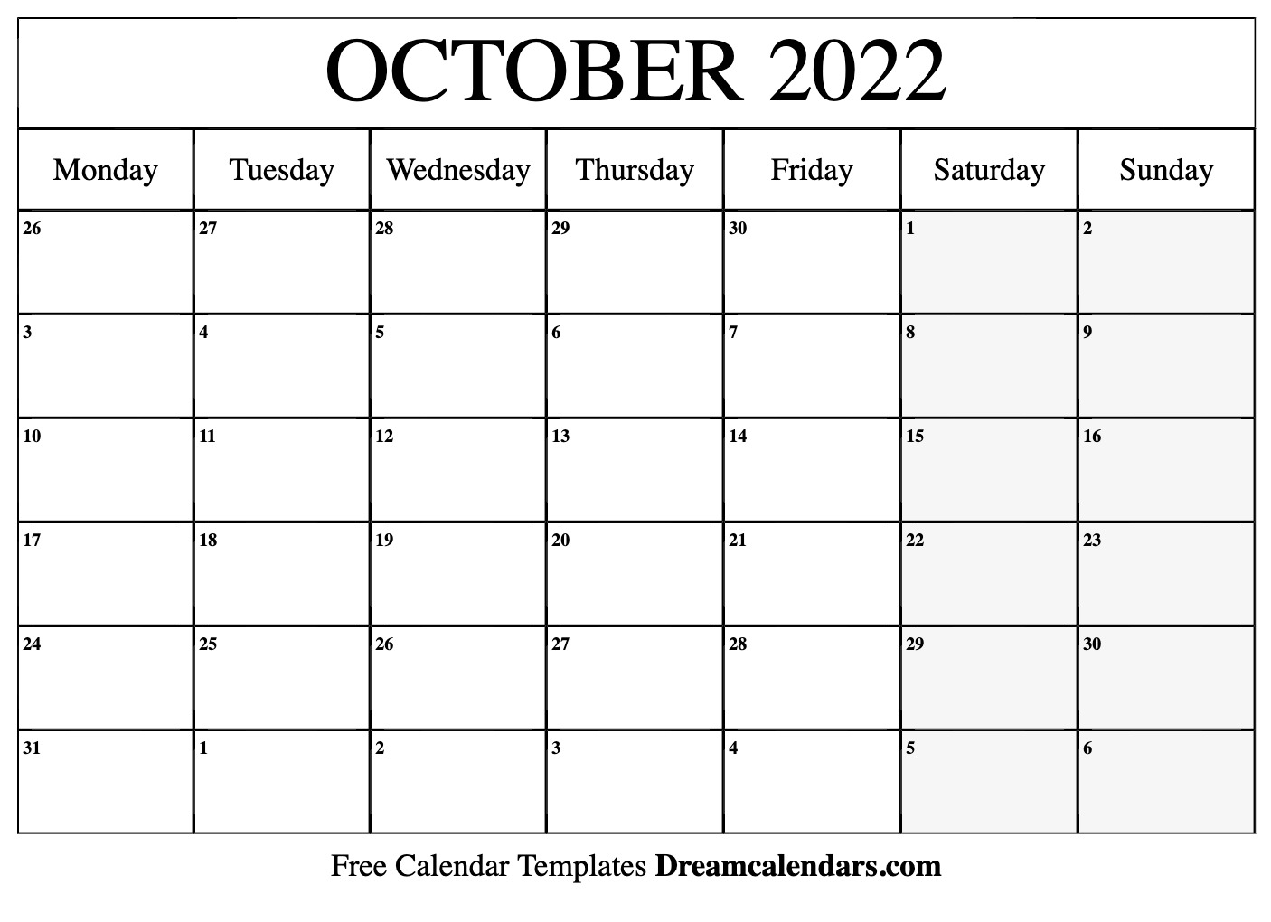 October 2022 Calendar   Free Blank Printable Templates For Printable Calendar October 2022 To January 2022