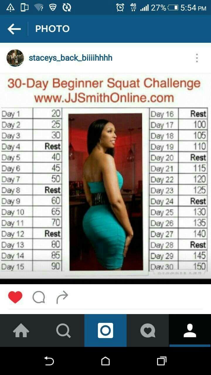 Pinolia Haynes On Workout | Squat Challenge, 30 Day Within Beginner 30 Day Squat Challenge