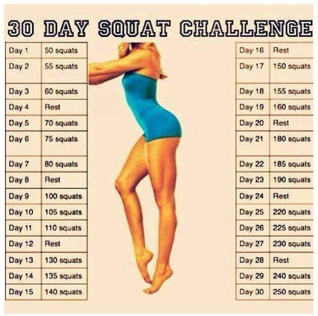 Pintracy Ventura On Gym | 30 Day Squat Challenge, 30 Regarding 30 Day Squat Challenge For Men And Women