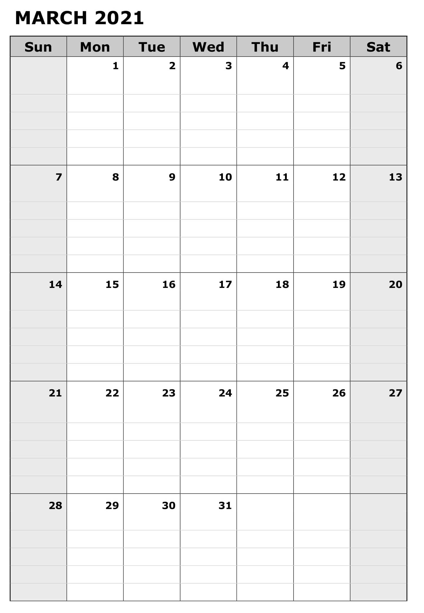 Print March 2021 Calendar Template Word – Printable Office Inside March 2021 Calendar Template