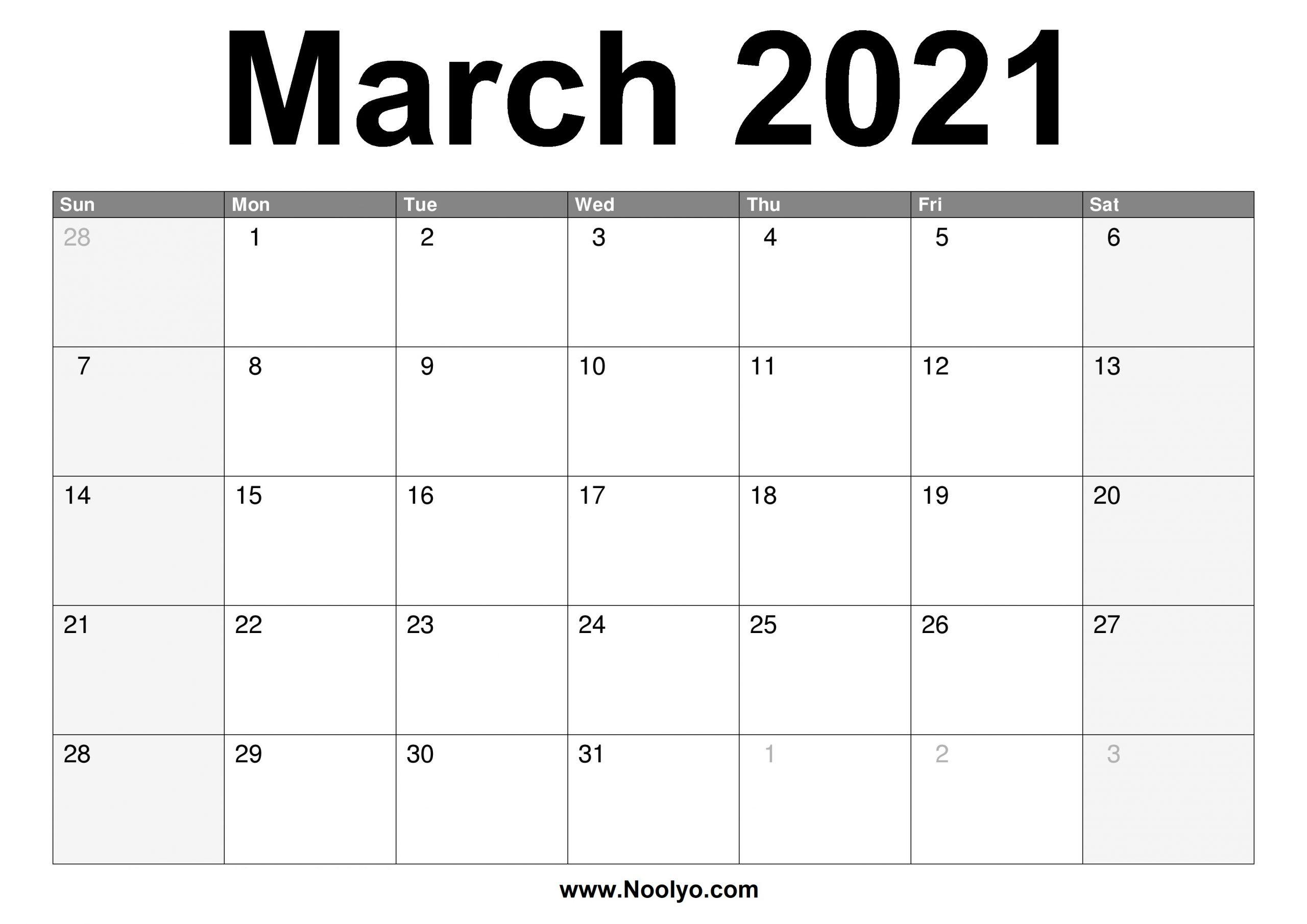 Print March Calendar 2021 | Printable March For Wiki January 2022 Calendar