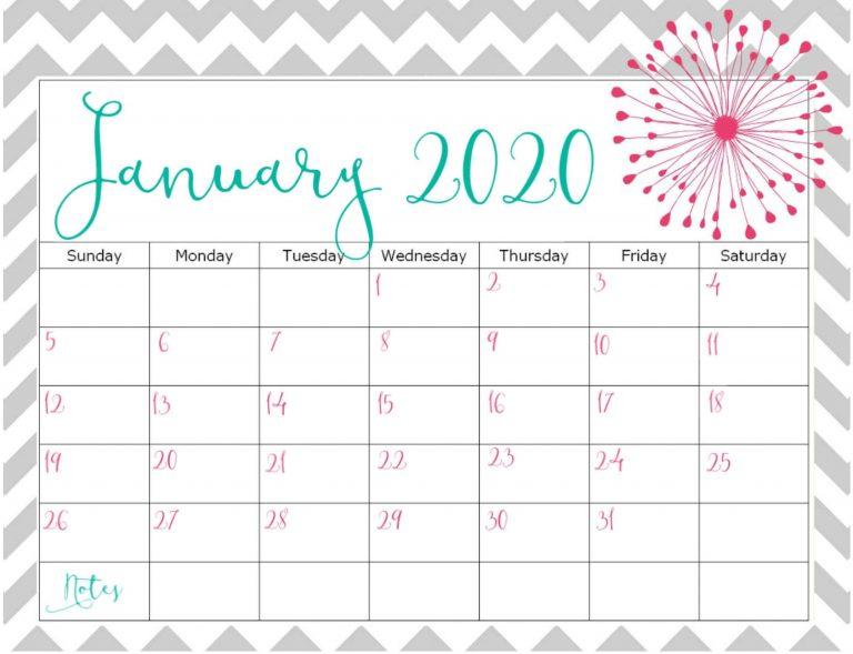 Print Monthly Calendar For January 2020 Full Size Pages Pertaining To Full Page January Calendar