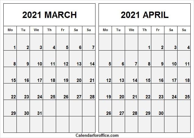 Printable Calendar March And April 2021 / March April Calendar 2021 Australia Calendar 2021 Regarding March And April 2021 Calendar